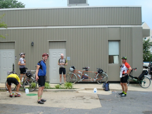 DC Randonneurs 600K - Chris, Lane, Joe, Felkerino, and Dan B.