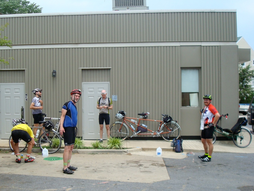 DC Randonneurs 600K - Chris, Lane, Joe, Felkerino, and Dan B.