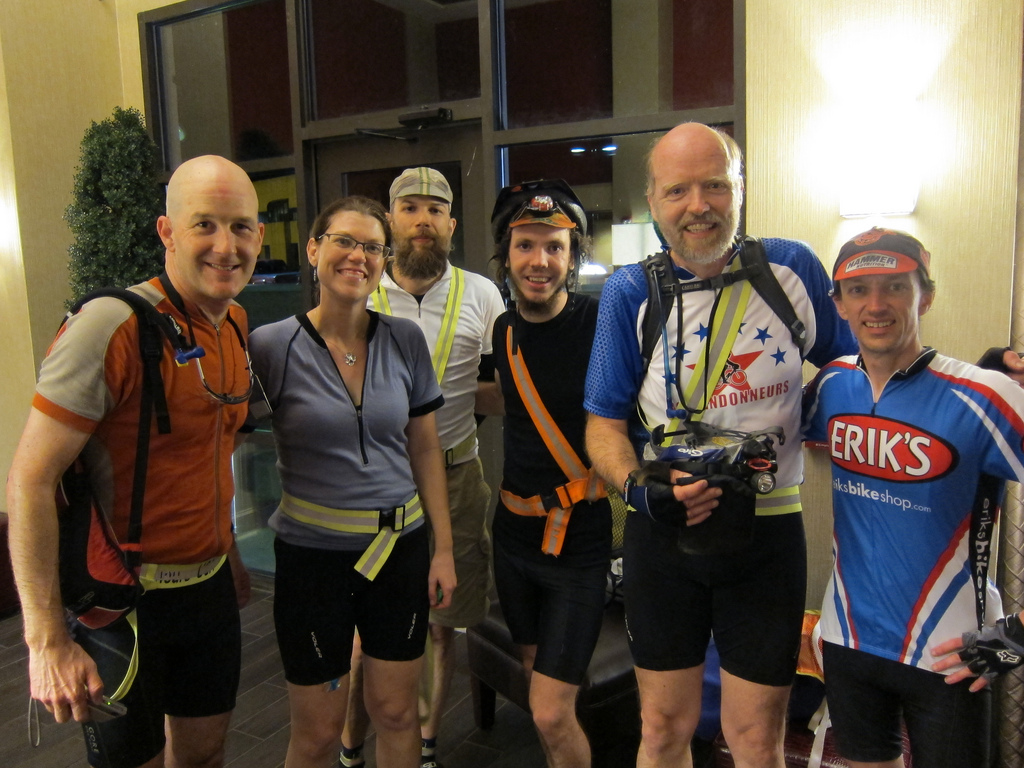 2011 D.C. Randonneurs 400K finish. Yay! (c) Bill Beck