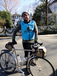 John and his Surly LHT at the D.C. Randonneurs '12 Populaire