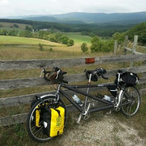 The Cannondale tandem on tour this summer