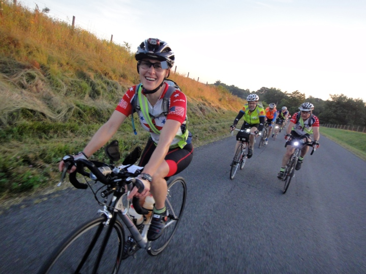 Andrea on the 2012 D.C. Randonneurs 600K