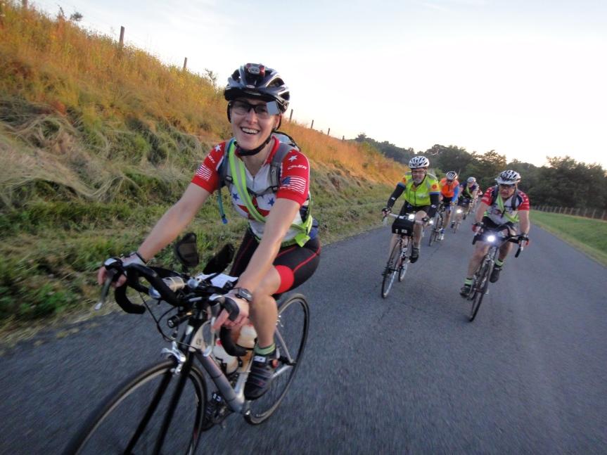 Andrea on the 2012 D.C. Randonneurs 600K