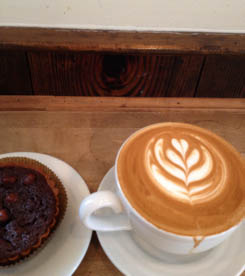Northside Social Cappuccino with Chocolate Espresso Hazelnut Torte