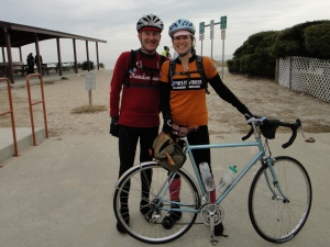 Felkerino and me. Flatbread 200K brevet