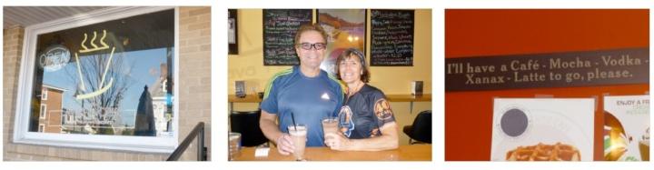 Patti and George, Coffeeneuring in Delaware (c) Patti B.