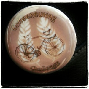Coffeeneuring Challenge button, designed by Joe P.