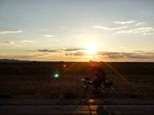 Sunset on Day 1 of the Colorado High Country 1200K