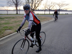 Megan of WABA, completes the Hains Point 100