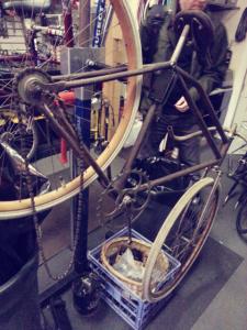 Old track frame