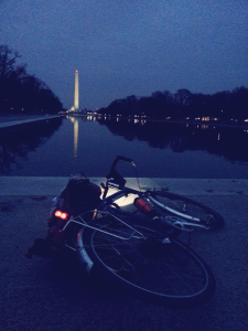 Surly LHT in the early evening at the Reflecting Pool