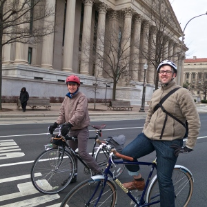 Justin and John on Pennsylvania Avenue (Photo by Felkerino)
