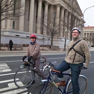 Justin and John on Pennsylvania Avenue (Photo by Felkerino)
