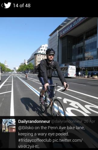 @bilsko in the bike lane. Photo by Felkerino/@dailyrandonneur.