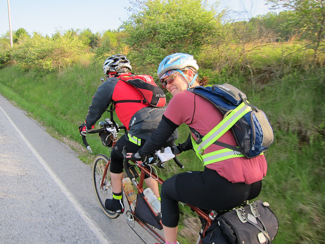 Felkerino and me. Frederick 300K Brevet. Photo by Bill Beck