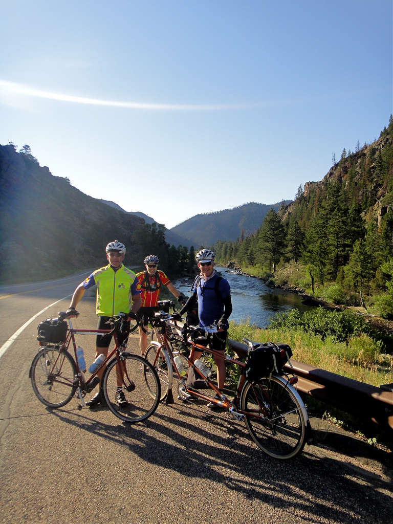 Dave, Bill, and Ed on the Colorado High Country