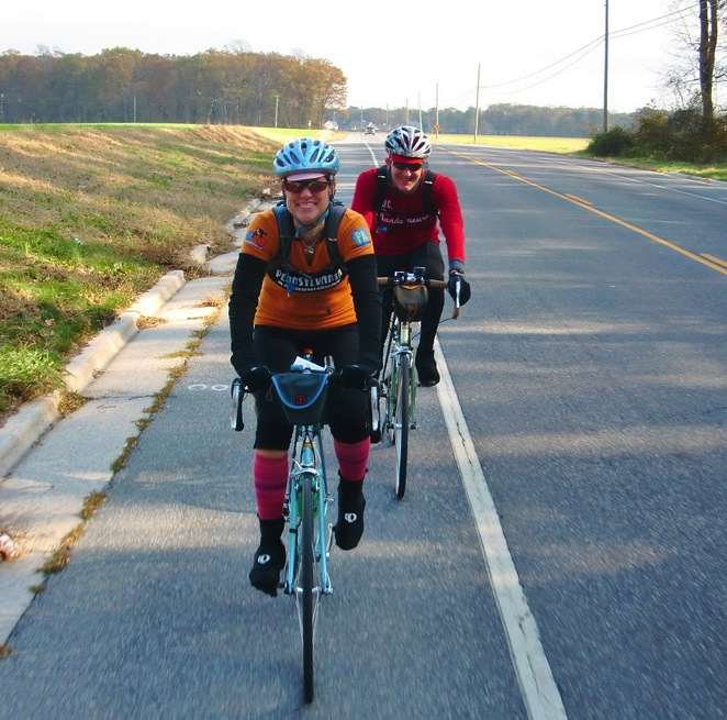 Ed and me on the Flatbread. Photo by Iron Rider
