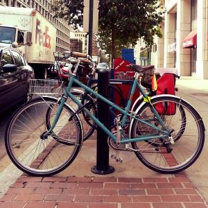Bike rack parking. Betty Foy