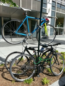 Advanced bike parking skills