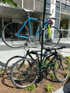 Advanced bike parking skills