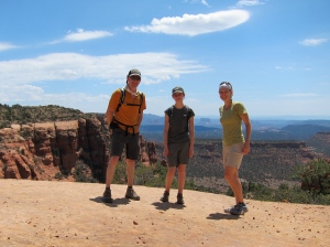 Group photo in Sedona (Bear Mountain)