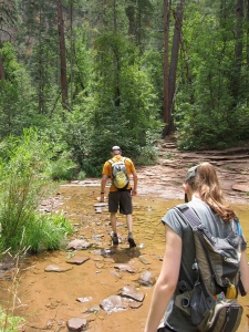 Creek crossing on the West Fork Trail