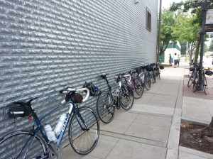 Impromptu Bike Parking in West Des Moines
