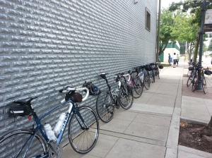 Impromptu Bike Parking in West Des Moines