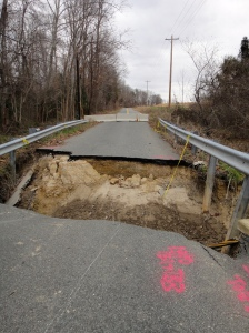 Truly a road closed on this washed out road/detour
