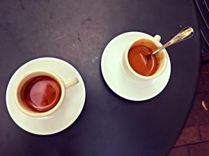 Two double espressos coffeeneuring