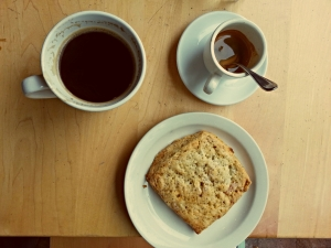 Coffeeneuring and a scone