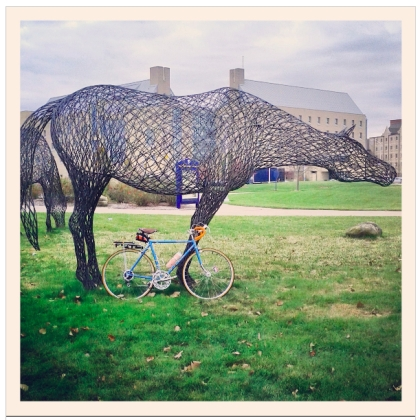 Peter Busby, The Noble Horse 1999 Galvanized Steel RodSchwinn Bicycle Company, Traveler III 1978 Cro-Moly Steel