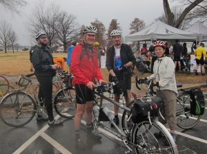 John, Felkerino, Dave, and Lisa at the Hains Point 100 pit stop zone