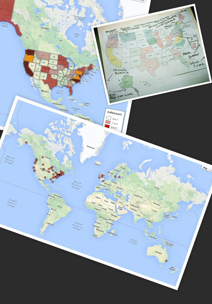 Coffeeneuring Maps 2013