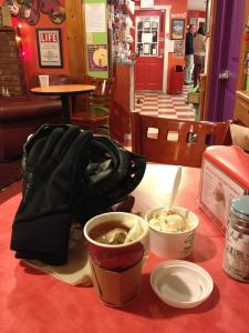 Freshly steeped Chai tea, ice cream and bicycle gear at Emack and Bolio's – Delaware Ave. Albany.