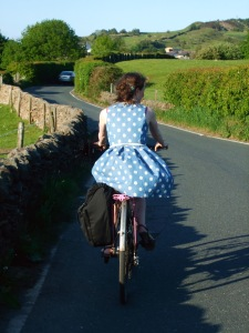 A summer's ride to a friend's wedding - sadly I found I couldn't ride with a fascinator on!