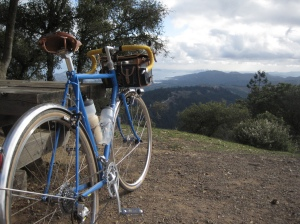 my bike on mount tam