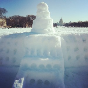 U.S. Capitol in Snow