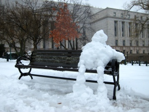A snowman of leisure