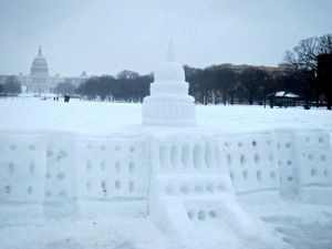 U.S. Capitol snow sculpture