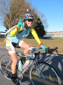 Calista during the last 10 miles. Bare legs and snow.