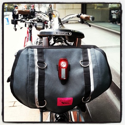 Jesse's Surly LHT and Swift Industries saddlebag with the PDW taillight.