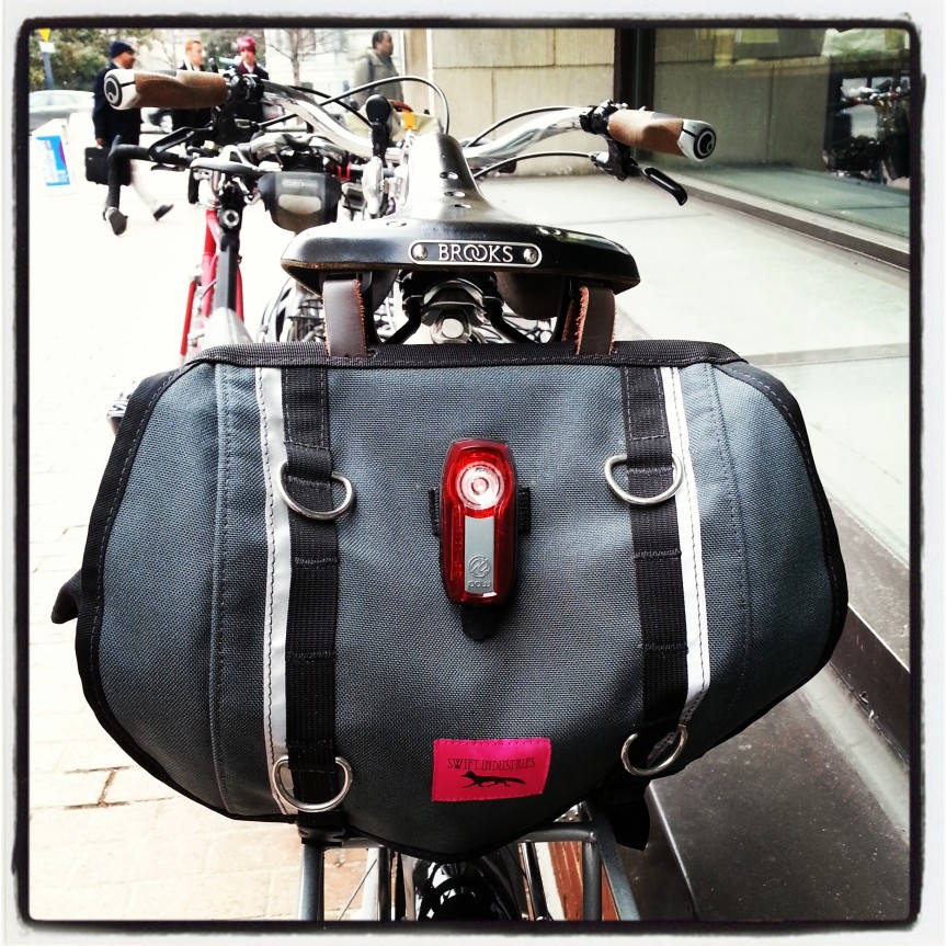 Jesse's Surly LHT and Swift bag and PDW light