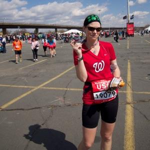 Me at the marathon finish