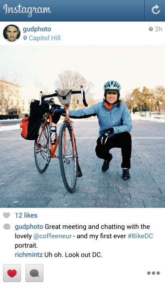 Dmitry's #BikeDC Photo on Instagram. Courtesy of Dmitry Gudkov (@gudphoto)