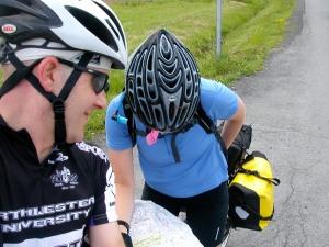 Checking the map en route to Niagara Falls