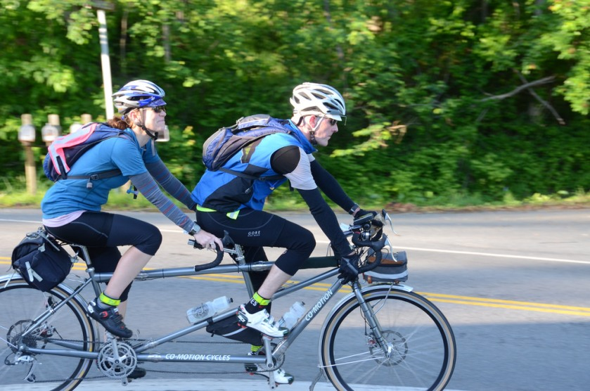 Day 1 on the 600K, photo by Bill Beck