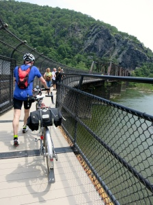 Crossing Harpers Ferry, West Virginia