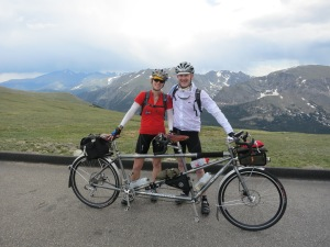 Crooked helmet photo on Trail Ridge Road.