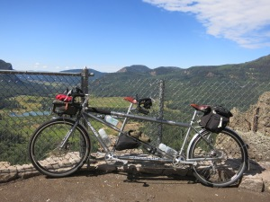 The Co-Motion tandem and overlook on Wolf Creek Pass